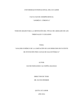 """""""andrés f. córdova"""" tesis de grado para la obtención del"""