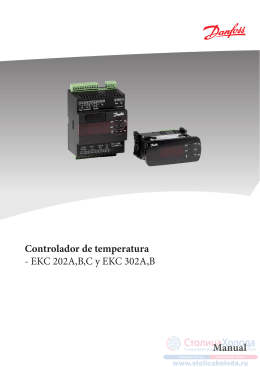 Controlador de temperatura - EKC 202A,B,C y EKC 302A,B Manual