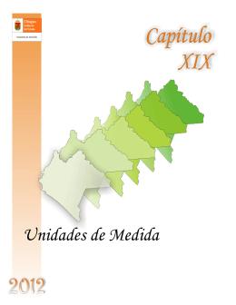 XIX.- Unidades de Medida