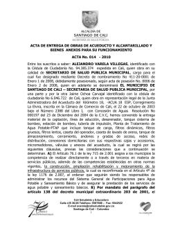ACTA DE ENTREGA DE OBRAS DE ACUEDUCTO Y