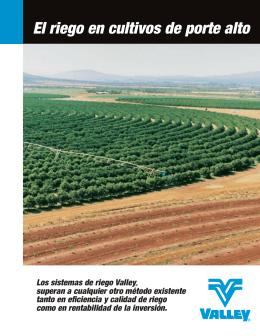 El riego en cultivos de porte alto