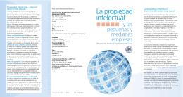 La propiedad intelectual y las pequeñas y medianas empresas