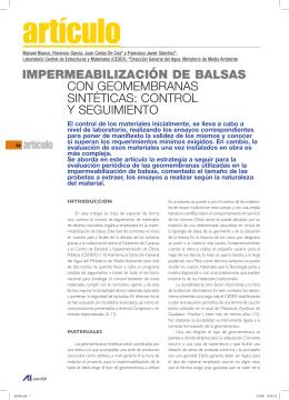 impermeabilización de balsas con geomembranas sintéticas