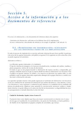 Acceso a la información y a los documentos de referencia / Sección 6