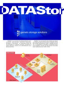 DataStor® es un servicio de almacenamiento de in