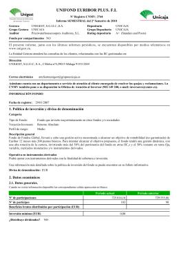 UNIFOND EURIBOR PLUS. F.I.