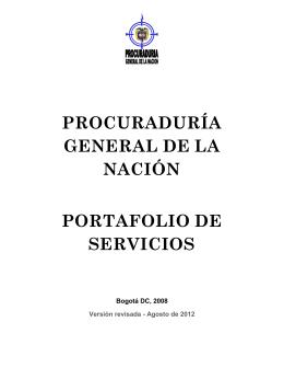 Portafolio de servicios del centro de atención al público