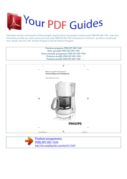 Buku petunjuk penggunaan PHILIPS HD-7448