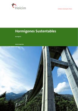Hormigones Sustentables