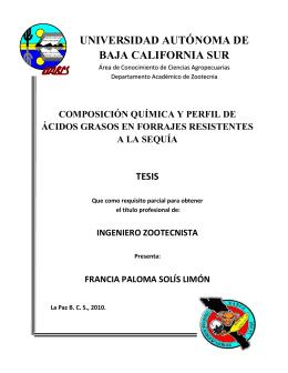ingeniero zootecnista - Universidad Autónoma de Baja California Sur