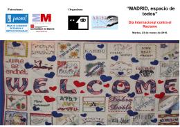 """""""MADRID, espacio de todos"""""""