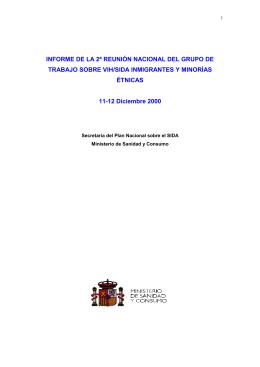 II Reunión Nacional del Grupo de Trabajo sobre VIH/SIDA en