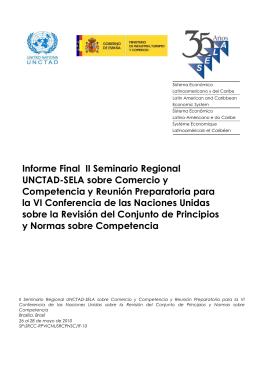 Informe Final II Seminario Regional UNCTAD