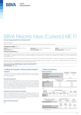 BBVA Mejores Ideas (Cubierto) MF, FI