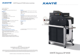 XANTÉ Degrava DP 8500