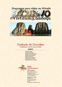 Tarifario Confidencial – Indochina 2009