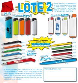 Promoción navidad -Lote 2- Boligrafo y mechero con marcaje