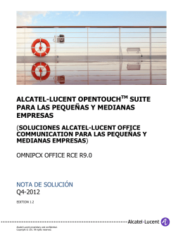 alcatel-lucent opentouchtm suite para las pequeñas y