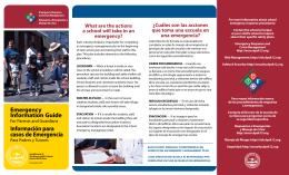 Emergency Information Guide Información para casos de Emergencia