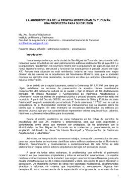 JORNADAS LATIONAMERICANAS PATRIMONIO y DESARROLLO