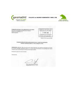 FOLLETO de MADRID DIMENSIÓN 5 IBEX, FIM
