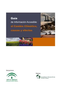 EL CAMBIO CLIMÁTICO, CAUSAS Y EFECTOS