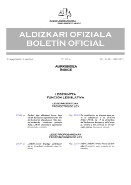ALDIZKARI OFIZIALA BOLETÍN OFICIAL