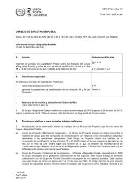 CEP 2010.1–Doc 13 Traducción del francés CONSEJO DE