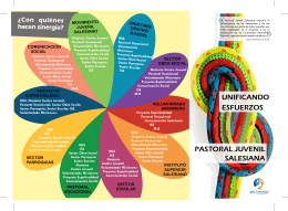 descarga el folleto de Pastoral Juvenil (Uruguay) en Sinergia