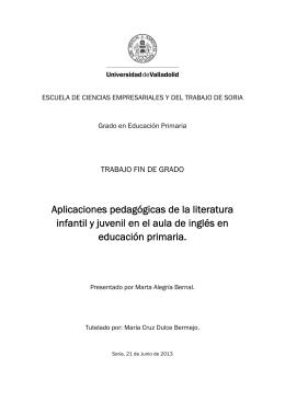 Aplicaciones pedagógicas de la literatura infantil y juvenil en el aula