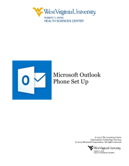 Microsoft Outlook Phone Set Up