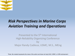 Risk Perspectives in Marine Corps Aviation