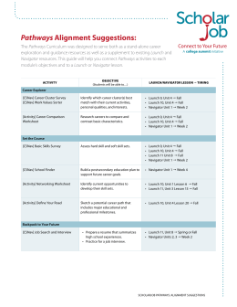 Pathways Alignment Suggestions