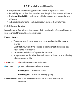 4.2 Probability and Heredity
