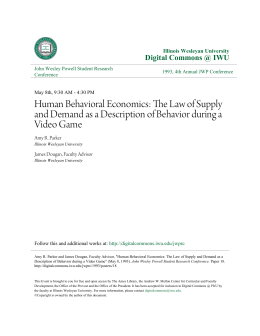 The Law of Supply and Demand as a Description of Behavior during a