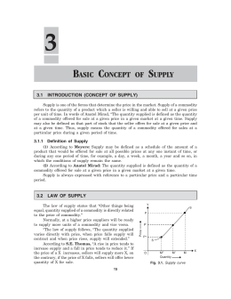 basic concept of supply