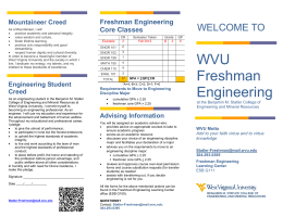 WVU Freshman Engineering - Statler College of Engineering and