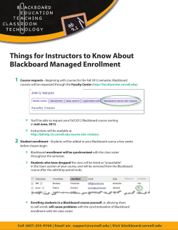Things for Instructors to Know About Blackboard