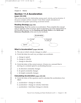 Section 11.3 Acceleration IPLS