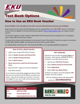 Text Book Options - EKU Manchester Campus