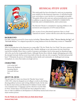 seussical study guide