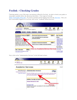 Foxlink - Checking Grades - Rollins Public Sharepoint