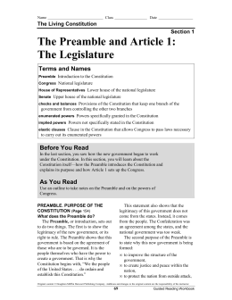 preamble and article 1 rh slideshowes com Guided Reading Worksheets Guided Reading Worksheets