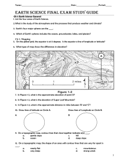 Earth Science Final Exam Study Guide