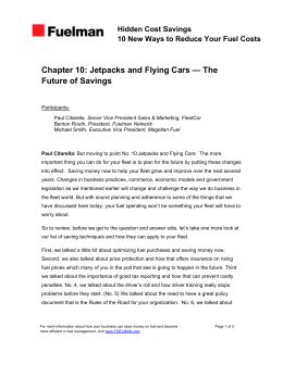 Chapter 10: Jetpacks and Flying Cars — The Future of Savings