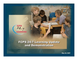 FCPS 24-7 Learning Update and Demonstration FCPS