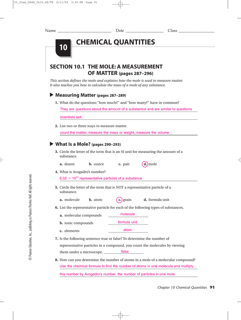 Printables Pearson Chemistry Worksheet Answers pearson prentice hall chemistry worksheets answers woodleyshailene davezan biology worksheet answers
