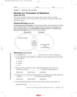IPLS Section 8.1 Formation of Solutions