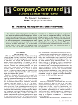 Is Training Management Still Relevant?