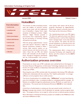 HokieMart Authorization process overview